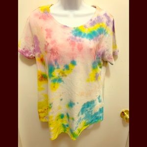 Sonoma Tie Dyed Pastel Colors Top Size M